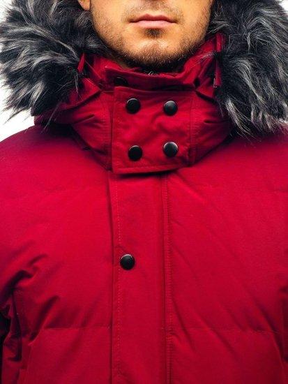 Bordová pánska zimná bunda BOLF 201821