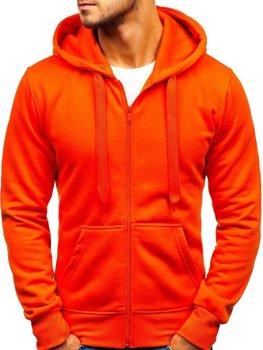 Oranžová pánska mikina s kapucňou BOLF AK50A cd63180e887