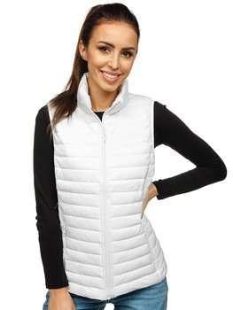 Biela dámska prešívaná vesta Bolf 20314