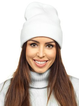 Biela dámska zimná čiapka Bolf YW09004