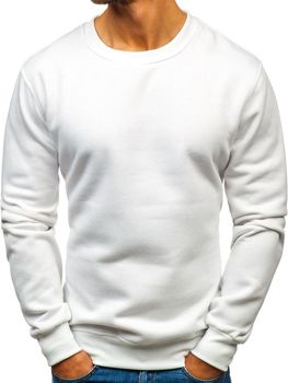 Biela pánska mikina bez kapucne BOLF BO-01 5ecd3387651