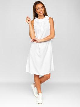 Biele dámske šaty Bolf 9785
