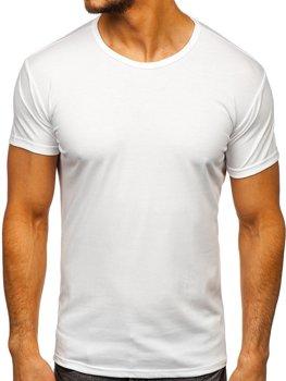 Biele pánske tričko bez potlače BOLF 2006