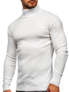 Biely pánsky sveter / rolák Bolf 520
