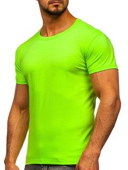 Celadenové pánske tričko bez potlače Bolf 2005