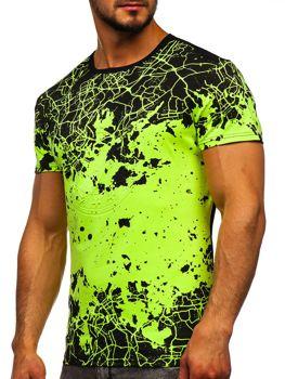Celadenové pánske tričko s potlačou Bolf SS11013
