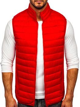 Červená pánska prešívaná vesta bez kapucne Bolf LY32