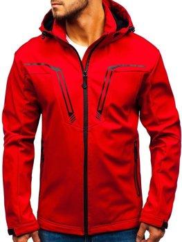 Červená pánska sofshellová prechodná bunda BOLF 5427