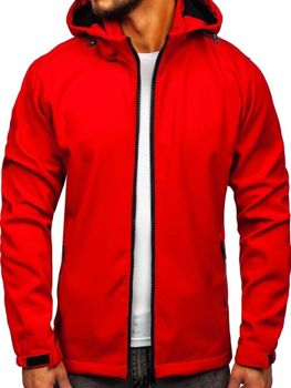 Červená pánska softshellová prechodná bunda Bolf 56008