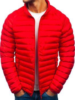 Červená pánska športová zimná bunda BOLF SM53-A fc1843b6b92