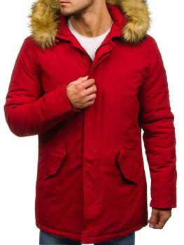 Červená pánska zimná bunda parka BOLF YT303 2784d3370e2