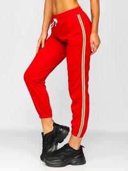 Červené dámske tepláky Bolf YW01020B