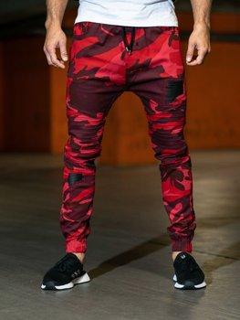 Červené maksáčové pánske nohavice Bolf 0829