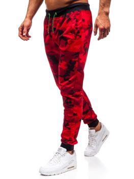 Červené maskáčové pánske teplákové joggery BOLF MK19