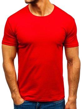 Červené pánske tričko bez potlače BOLF 9001-1