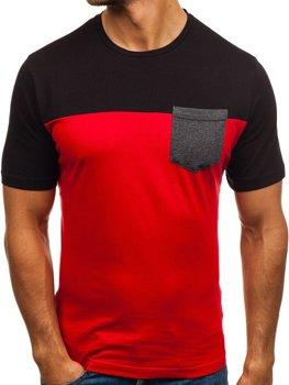 Červené pánske tričko s potlačou BOLF 6309