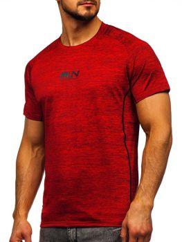 Červené pánske tričko s potlačou Bolf KS2101