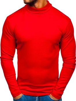 Červený pánsky nátelník bez potlače BOLF 145347