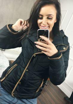 Čierna dámska zimná bunda BOLF 22