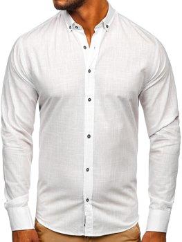 Čierna pánska košeľa s krátkymi rukávmi Bolf 17501