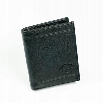 Čierna pánska kožená  peňaženka 877