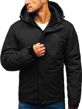 Čierna pánska lyžiarska zimná bunda BOLF HZ8107