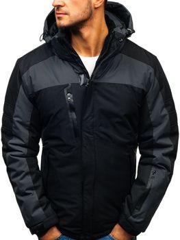 840aa91a6 Čierna pánska lyžiarska zimná bunda BOLF HZ8112