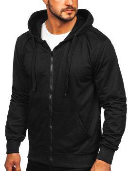 Čierna pánska mikina na zips s kapucňou Bolf B10002