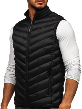 Čierna pánska prešívaná vesta Bolf HDL88006