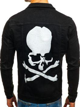 Čierna pánska riflová bunda BOLF 2052