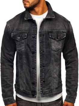 Čierna pánska rifľová bunda Bolf XSF78268