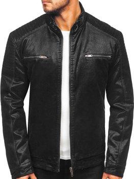 Čierna pánska semišová bunda  Bolf EX927