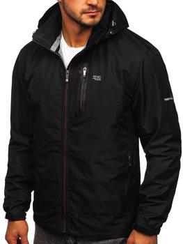 Čierna pánska športová prechodná bunda Bolf BK029