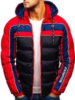 Čierna pánska zimná bunda BOLF A429