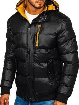 Čierna pánska zimná bunda Bolf 5839