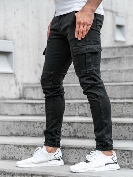 Čierne pánske jogger nohavice BOLF 2039-1