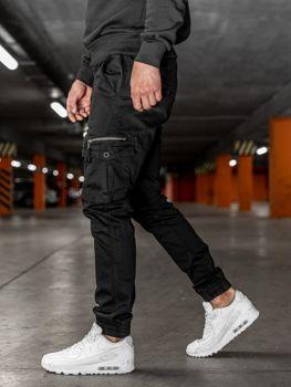 Čierne pánske kapsáčové joggery Bolf KA528