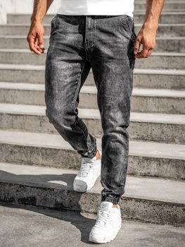 Čierne pánske rifľové joggery Bolf R31002S0