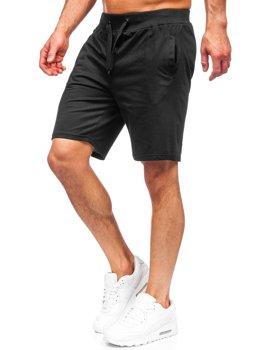 Čierne pánske teplákové šortky Bolf K10003