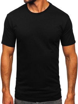 Čierne pánske tričko bez potlače Bolf 14291
