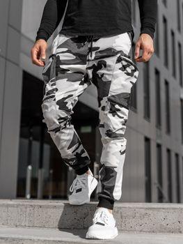 Čierno-biele pánske kapsáčové joggery Bolf  0475