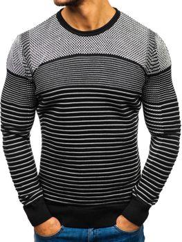 Čierno-biely pánsky sveter BOLF 1015
