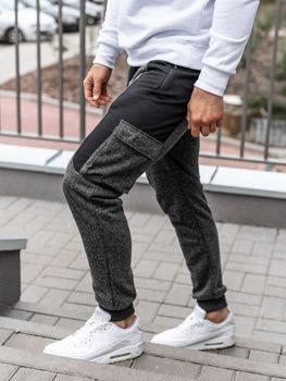 Čierno-neónové pánske teplákové joggery Bolf Q3774