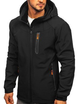 Čierno-oranžová pánska softshellová bunda Bolf 12269