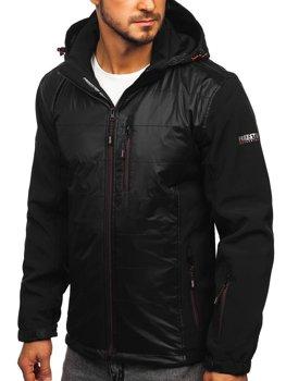 Čierno-oranžová pánska softshellová bunda Bolf 5680