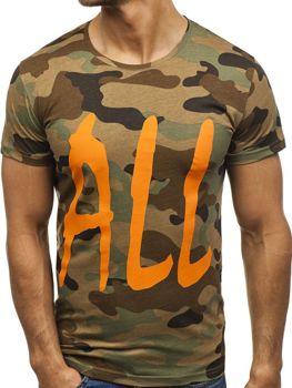 Farebné pánske tričko s potlačou BOLF 2102E