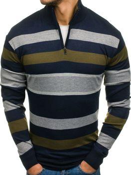 Farebný pánsky vzorovaný sveter BOLF LK2C
