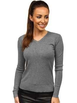 Grafitový dámsky sveter Bolf AL0204L