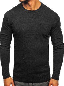 Grafitový pánsky sveter Bolf 0001