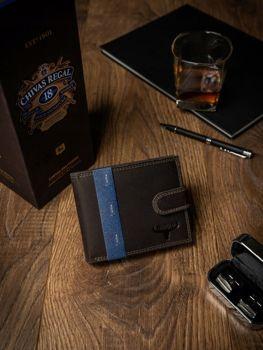 Hnedá pánska kožená peňaženka 2226
